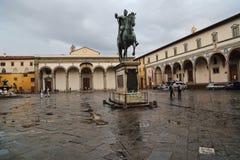 Della de Piazza Santissima Annunziata à Florence, Italie Photos libres de droits