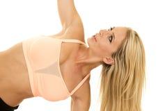Della donna di sport del reggiseno di portata fine rosa su Fotografia Stock Libera da Diritti