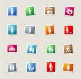 Della famiglia icone semplicemente Fotografia Stock