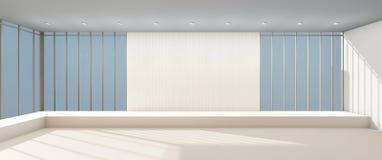 Della finestra minima della galleria di arti mostra moderna e di vetro illustrazione vettoriale