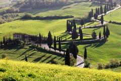 della foce strada Tuscany Zdjęcie Royalty Free