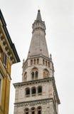 Della Ghirlandina, Módena, Italia de Torre Fotografía de archivo