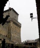 Della Guaita, castello di Rocca nella repubblica di San Marino fotografia stock