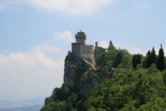 Della Guaita de Castello au Saint-Marin Photographie stock
