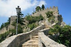 Della Guaita de Castello em San Marino Imagens de Stock