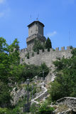 Della Guaita de Castello em San Marino Fotografia de Stock