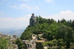 Della Guaita de Castello en San Marino Fotografía de archivo libre de regalías