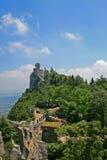 Della Guaita de Castello en San Marino imagenes de archivo