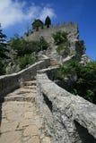 Della Guaita de Castello en San Marino Fotos de archivo