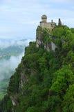 Della Guaita, la forteresse la plus antique de Rocca du Saint-Marin, AIE Image libre de droits