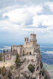 Della Guaita Rocca, замок в республике Сан-Марино, Италии Стоковые Фотографии RF