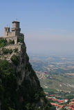 Della Guaita van Castello in San-Marino Royalty-vrije Stock Afbeeldingen