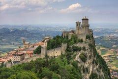 Della Guaita van Rocca van San Marino. royalty-vrije stock afbeeldingen
