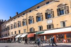 Della Liberta Corso Martiri в городе Феррары Стоковые Изображения RF