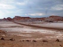 Della Luna de Valle - vale da lua (deserto de Atacama, o Chile) foto de stock