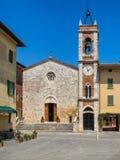 Della Madonna di Vitaleta di Chiesa in d'Orcia di san Quirico in Tusca Fotografia Stock Libera da Diritti