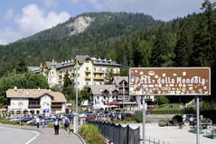 Della Mendola di Passo nel Tirolo del sud Immagine Stock