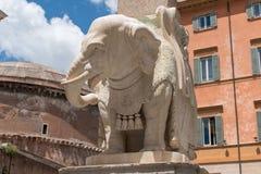 Della Minerva Рим - Италия 3 Obelisco Стоковая Фотография RF