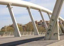 Della Musica, un puente de acero blanco moderno de Ponte en el corazón de Fotos de archivo