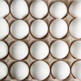 Della parte superiore vista giù delle uova Fotografie Stock Libere da Diritti
