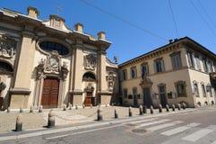 Della Passione e Conservatorio di Chiesa a Milano Immagini Stock Libere da Diritti