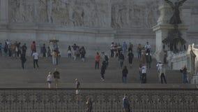Della Patria, εθνικό μνημείο Altare στο Victor Emmanuel ΙΙ 05 10 2017 Ρώμη, Ιταλία απόθεμα βίντεο
