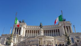 Della Patria Altare, аркада Venezia, Рим Италия стоковые изображения