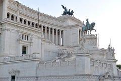Della Patria Altare, памятник построенный для того чтобы удостоить Виктора Emmanuel, Рима стоковая фотография