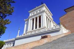 Della Patria Altare, памятник построенный для того чтобы удостоить Виктора Emmanuel, Рима стоковые фотографии rf