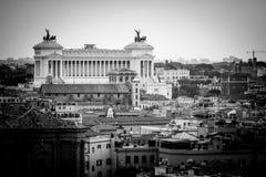 Della Patria Altare, панорама Рим стоковое фото rf