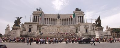 Della Patria d'Altare à Rome photographie stock libre de droits