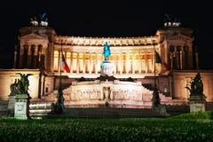 Della Patria di Altare in piazza Venezia Fotografia Stock