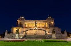 Della Patria di notte - Roma di Altare Fotografia Stock Libera da Diritti
