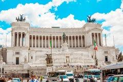Della Patria, Monumento Nazionale de Altare Vittorio Emanuele II Imágenes de archivo libres de regalías
