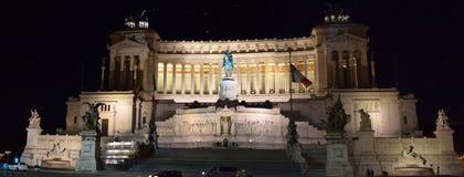 Della Patria Roma di Altare alla notte Fotografia Stock Libera da Diritti
