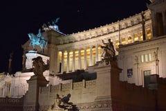Della Patria, Roma di Altare di notte Immagine Stock Libera da Diritti