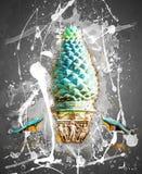 Della Pigna Фонтаны (фонтан конуса сосны Стоковое Изображение