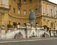 Della Pigna di Fontana a Città del Vaticano, Roma, Italia Immagine Stock Libera da Diritti