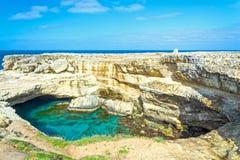 Della Poesia Grotta, провинция Lecce, Италии стоковые фотографии rf