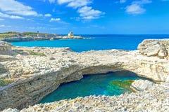 Della Poesia Grotta, провинция Lecce, Италии стоковое фото rf