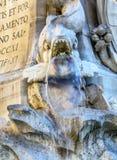 Della Porta Fish Fountain Piazza Rotunda Rome Italy Royalty Free Stock Images