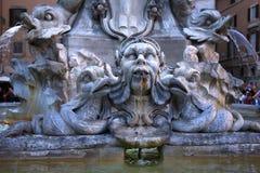 Della Porta Fountain Piazza Rotunda Rome Italy Stock Image