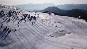 Della Presolana, Bérgamo, Italia de Castione Paisaje en el área del esquí de Monte Pora en la estación del invierno en el rastro  metrajes