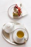 Della prima colazione vita ancora con la torta Fotografia Stock