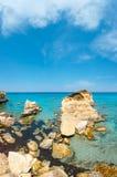 Della Punticeddha Spiaggia пляжа моря, Salento, Италия Стоковая Фотография