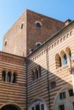 Della Ragione de Palazzo en la ciudad de Verona Fotos de archivo libres de regalías
