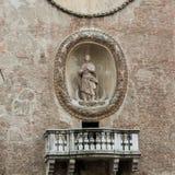Della Ragione Palazzo с ` башни с часами ` Orologio ` Dell Torre Mantua, Стоковые Фотографии RF