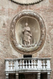 Della Ragione Palazzo с ` башни с часами ` Orologio ` Dell Torre Mantua Стоковые Фотографии RF