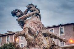 Della Repubblica πλατειών στη Ρώμη, Ιταλία Στοκ Εικόνα
