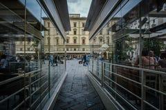 Della Republicca аркады, Флоренс, Италия стоковые изображения rf